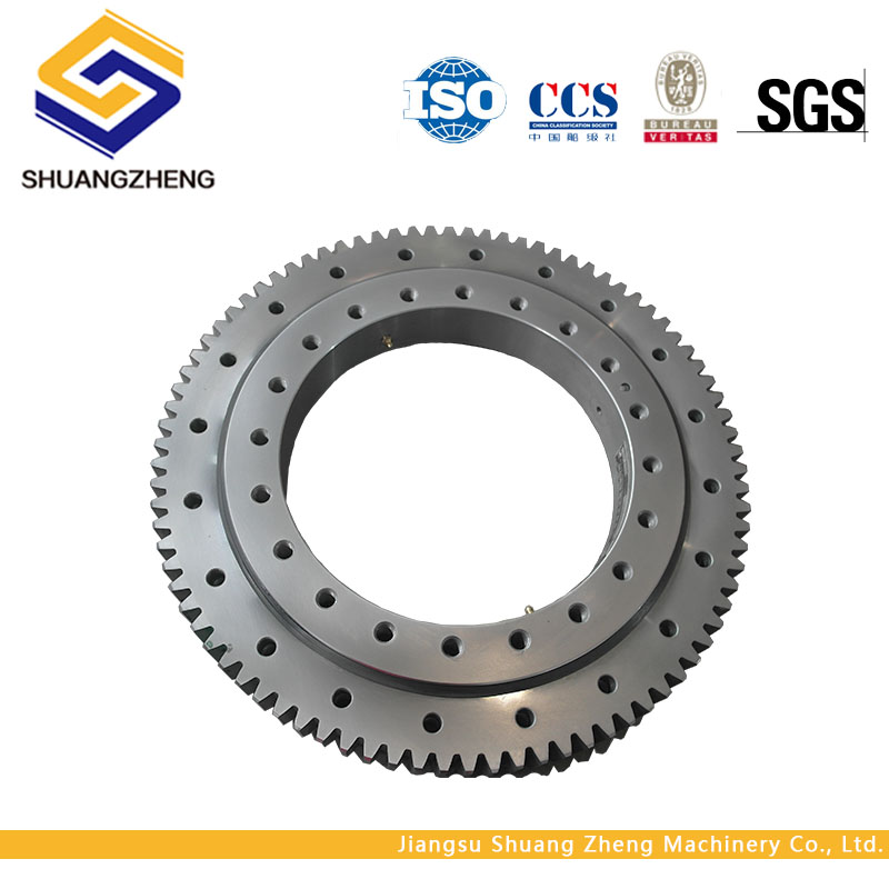 Hot selling long service life single row four point contact ball slewing bearing